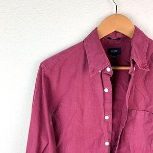 J. CREW Slim Fit Secret Wash Red Gingham Shirt S